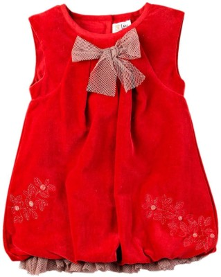 Mom & Me Girl's Gathered Red Dress