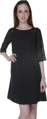 Rigoglioso Women's A-line Black Dress