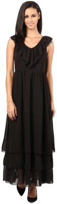 The Vanca Women's A-line Black Dress