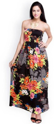 Santana Fashion Women's Maxi Black Dress