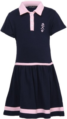 Cool Quotient Baby Girl,s A-line Blue Dress