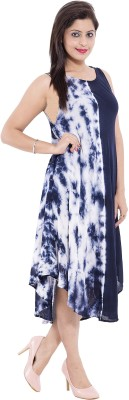 Belomoda Women's High Low Dark Blue Dress