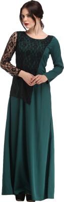 Raas Prêt Women's Maxi Dark Green, Black Dress