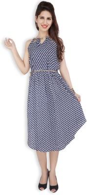 Free Spirited Women's A-line Blue Dress