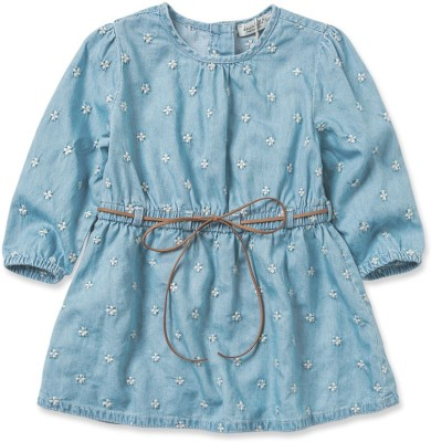 Dave & Bella Girl's Fit and Flare Blue Dress
