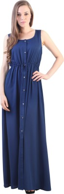 VVINE Women's A-line Blue Dress