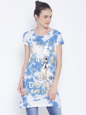 Kook N Keech Disney Women's Jersey Blue Dress