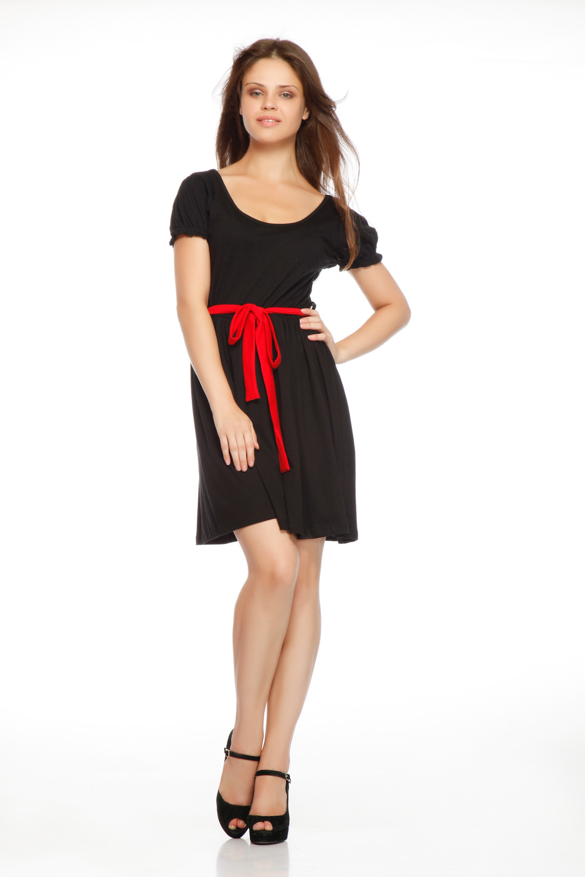 Gritstones Womens Red, Black Dress