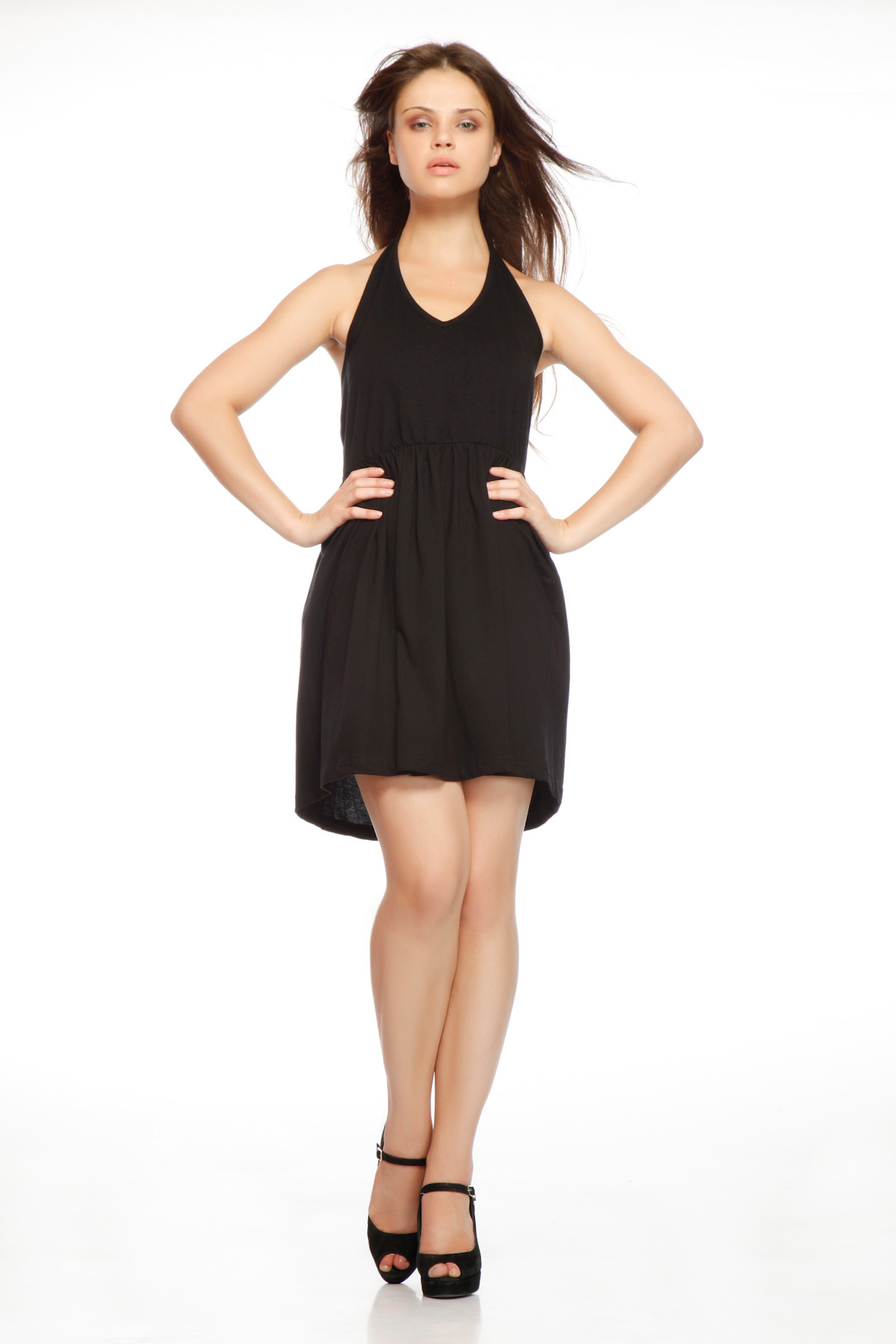 Gritstones Womens A-line Black Dress