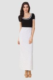 Texco Women's Maxi Black, White Dress
