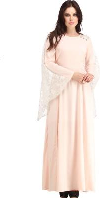 Raas Prêt Women's Maxi Pink, White Dress