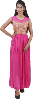 Ajaero Women's Maxi Pink Dress