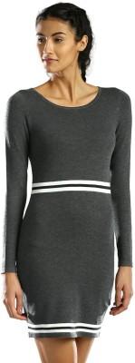 HRX by Hrithik Roshan Women's A-line Grey Dress at flipkart