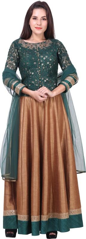 Mini Singh Women's A-line Green Dress
