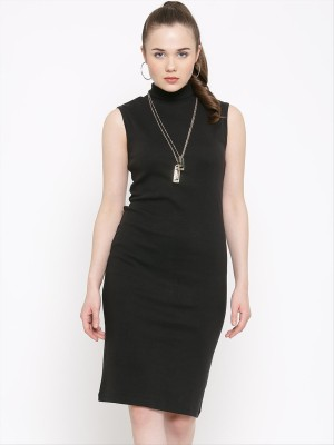 Rare Women's Sheath Black Dress at flipkart