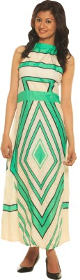 Modo Vivendi Women's Maxi Green Dress