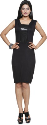Five Stone Women's Sheath Black Dress