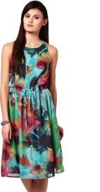 Yepme Women's Gathered Multicolor Dress