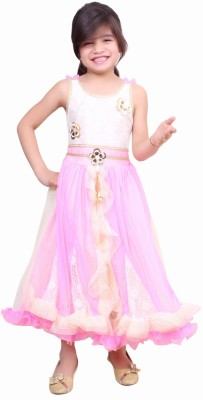 Tiny Toon Girl's A-line Pink Dress