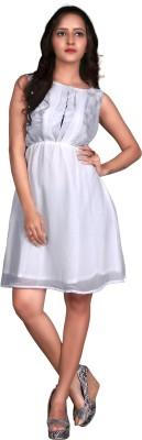 Viva N Diva Women's A-line White Dress