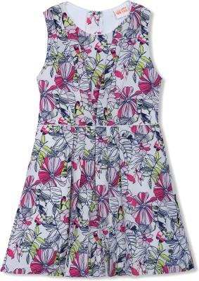 FS Mini Klub Girl's Fit and Flare Pink Dress