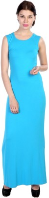 James Scot Women's Maxi Blue Dress