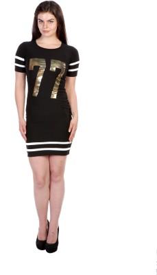 James Scot Women's Sheath Black Dress