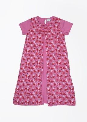 Disney by Genes Girl's Midi/Knee Length Dress(Purple, Half Sleeve) at flipkart