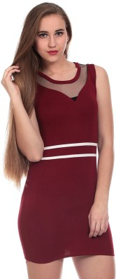 Claude 9 Women's Shift Maroon Dress