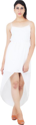 Annies Fab Women's High Low White Dress