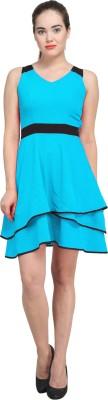 Femninora Women's A-line Blue Dress