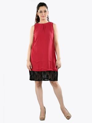 Aatmik Womens A-line Red Dress