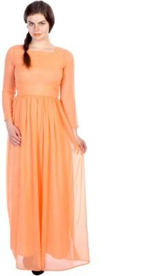 James Scot Women's Maxi Beige Dress