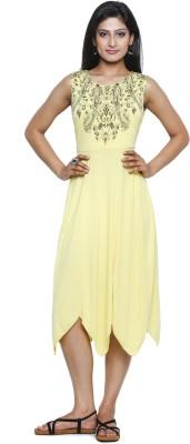 Five Stones Women's Maxi Yellow Dress
