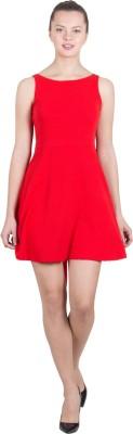 G & M Collections Women's A-line Red Dress at flipkart