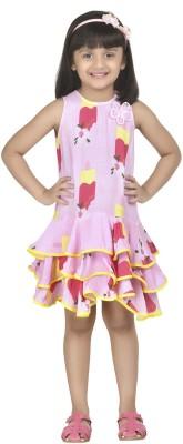 Masaba for Magic fairy Girl's Layered Pink Dress