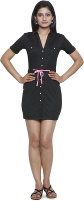 Five Stones Women's High Low Black Dress
