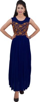 Ajaero Women's Maxi Dark Blue Dress