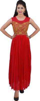 Ajaero Women's Maxi Red Dress