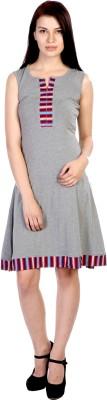 James Scot Women's A-line Grey Dress