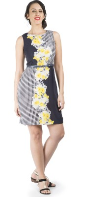 109F Women's A-line Multicolor Dress