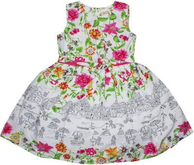 FS Mini Klub Girl's A-line Pink Dress