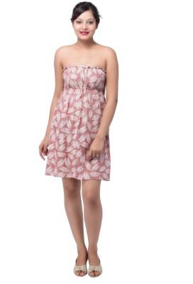 Indi Bargain Womens A-line Brown, Black Dress
