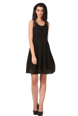 Sei Bello Women's Fit and Flare Black Dress