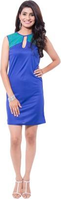 Viba London Women's Sheath Blue Dress