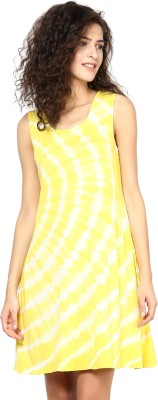 SbuyS Women's Fit and Flare Yellow Dress