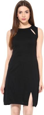 Miss Chase Women's A-line Black Dress
