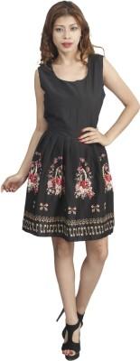 Naitik Women's A-line Black Dress