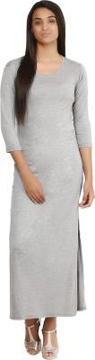Glitterss Women's Maxi Grey Dress