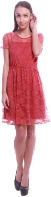 La Divyyu Women's A-line Red Dress